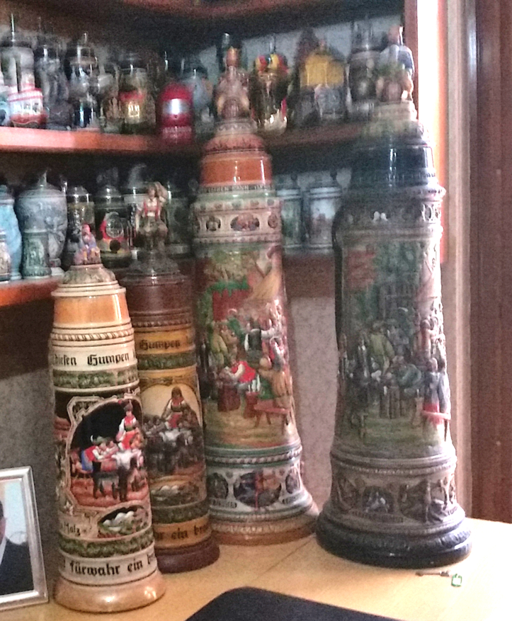a pair of 32L Gerz and pair of 12L King Werk steins in francatan's personal collection;